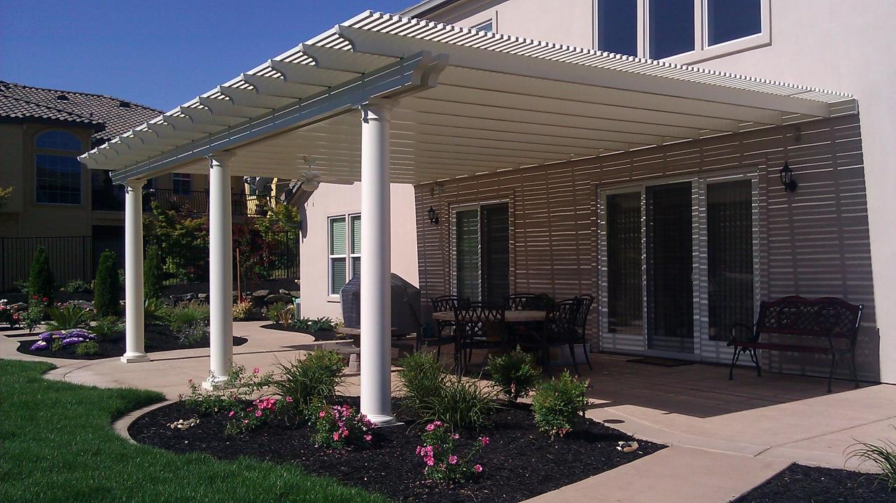 Lattice Patio Cover With Double Beam Over Columns ...