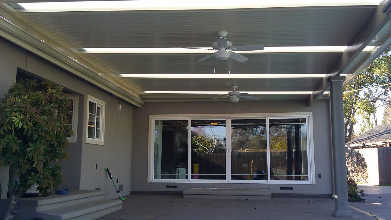 Delightful ... Skylights In Solid Patio Cover ...