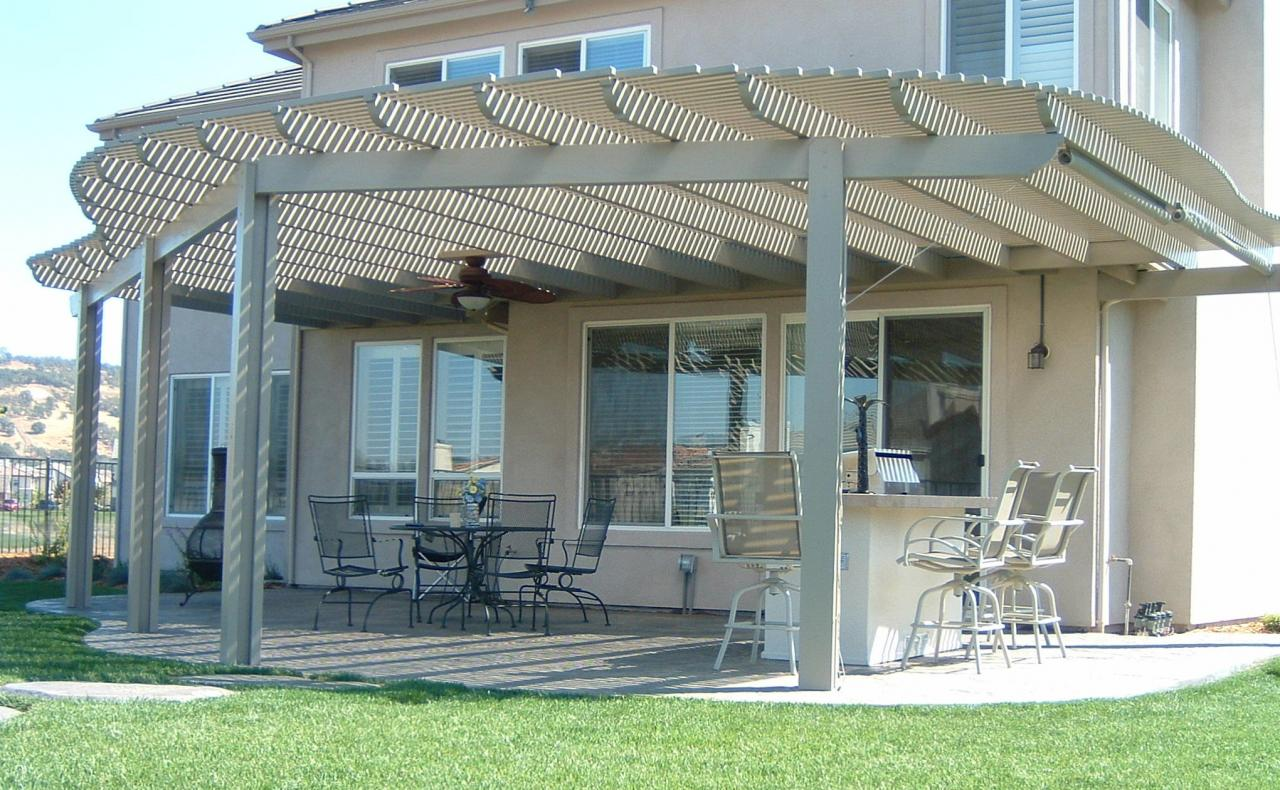 ... Contoured Lattice Patio Cover ...
